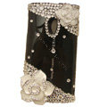 Bling flowers Crystals Hard Cases Covers For Sony Ericsson X10i - White