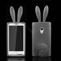 Rabbit Ears Silicone Case Covers For Sony Ericsson X10i - Gray