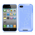 iPEARL Silicone Cases Covers for iPhone 5G - Blue