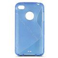 s-mak translucent double color cases covers for iPhone 5G - Blue