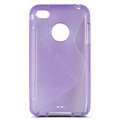 s-mak translucent double color cases covers for iPhone 5G - Purple