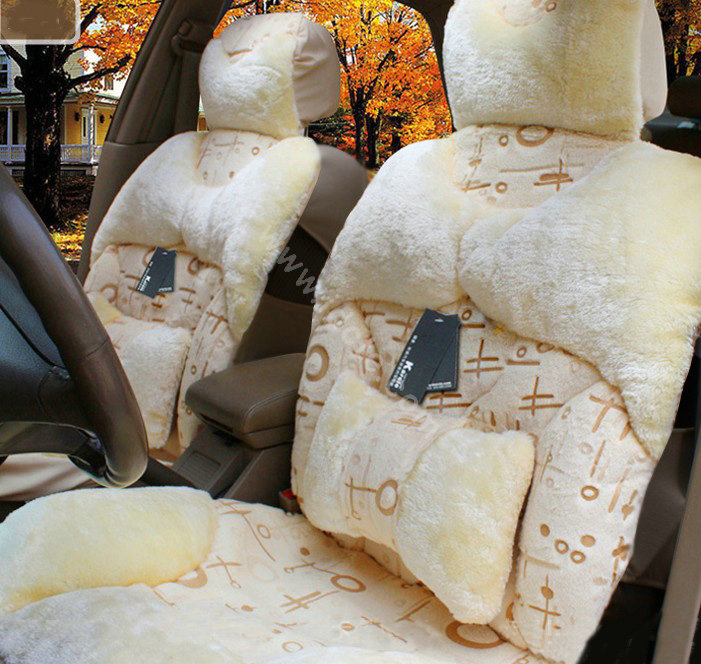 buy wholesale karcle winter fleece auto seat cushion warm plush car seat covers beige from. Black Bedroom Furniture Sets. Home Design Ideas