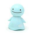 Cute Shake head doll Solar Smiling angel shook his head doll Car decoration - Blue