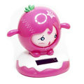 Shake his head doll Solar Face Change Doll Solar Doll Car decoration - Rose