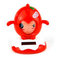 Solar Doll Shake his head doll Solar Face Change Doll Car decoration - Red