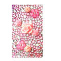 Flower 3D bling crystal cases covers for your mobile phone model - Pink