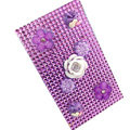 Flower 3D bling crystal cases covers for your mobile phone model - Purple
