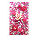 Flower 3D bling crystal cases covers for your mobile phone model - Rose
