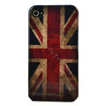 British flag Hard Back Cases Covers for iPhone 4G - Red