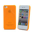 Transparency shell Hard Back Cases Covers for iPhone 4G - Orange