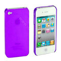 Transparency shell Hard Back Cases Covers for iPhone 4G - Purple