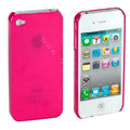 Transparency shell Hard Back Cases Covers for iPhone 4G - Rose
