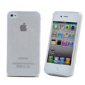 Transparency shell Hard Back Cases Covers for iPhone 4G - White