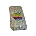 Bling covers Apple diamond crystal cases for iPhone 3G - White