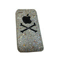 Bling covers Black Apple diamond crystal cases for iPhone 3G - White
