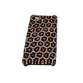 Bling covers Leopard Grain diamond crystal cases for iPhone 4G - Pink
