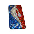 Bling covers NBA diamond crystal cases for iPhone 3G - White