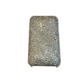 Bling covers Point diamond crystal cases for iPhone 3G - White