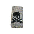 Bling covers Skull diamond crystal cases for iPhone 4G - Black