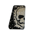 Bling covers Skull diamond crystal cases for iPhone 4G - White