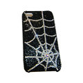 Bling covers Spider Network diamond crystal cases for iPhone 4G - White