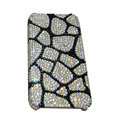 Bling covers Stone Grain diamond crystal cases for iPhone 4G - Black