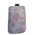 Luxury Bling Holster covers All diamond crystal cases for iPhone 4G - Pink
