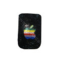 Luxury Bling Holster covers Apple diamond crystal cases for iPhone 4G - Black