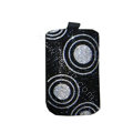 Luxury Bling Holster covers Circle diamond crystal cases for iPhone 4G - Black