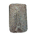 Luxury Bling Holster covers Metal Eiffel Tower diamond crystal cases for iPhone 4G - White