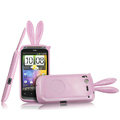 Imak Rabbit covers Bunny cases for HTC Desire S G12 S510e - Pink (High transparent screen protector+Sucker)