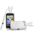 Imak Rabbit covers Bunny cases for HTC Desire S G12 S510e - White (High transparent screen protector+Sucker)