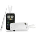 Imak Rabbit covers Bunny cases for HTC Pyramid Sensation 4G G14 Z710e - White (High transparent screen protector+Sucker)