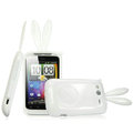 Imak Rabbit covers Bunny cases for HTC Wildfire S A510e G13 - White (High transparent screen protector+Sucker)
