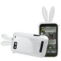 Imak Rabbit covers Bunny cases for Motorola MB525 Defy ME525 - White (+High transparent screen protector)