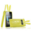 Imak Rabbit covers Bunny cases for Nokia X7 X7-00 - Yellow (High transparent screen protector+Sucker)