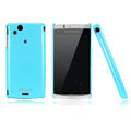 Nillkin Bright side skin cases covers for Sony Ericsson Xperia Arc LT15I X12 - Blue