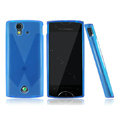 Nillkin matte scrub skin cases covers for Sony Ericsson Xperia ray ST18i - Blue