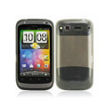 Nillkin high transparency scrub skin cases covers for HTC Desire S G12 S510e - Black