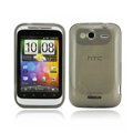 Nillkin high transparency scrub skin cases covers for HTC Wildfire S A510e G13 - Black