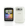 Nillkin high transparency scrub skin cases covers for HTC Wildfire S A510e G13 - White