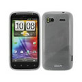 Nillkin high transparency silicone cases covers for HTC Sensation G14 Z710e - White