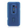 Nillkin matte scrub skin cases covers for HTC EVO 3D G17 X515M - Blue