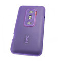 Nillkin matte scrub skin cases covers for HTC EVO 3D G17 X515M - Purple