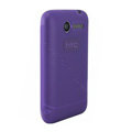 Nillkin matte scrub skin cases covers for HTC Wildfire A315C - Purple
