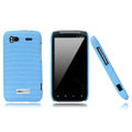 Nillkin new pishi leather Holster cases covers for HTC Sensation G14 Z710e - Blue