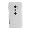 Nillkin scrub hard skin cases covers for HTC EVO 3D G17 X515M - White