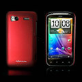 Nillkin scrub hard skin cases covers for HTC Sensation G14 Z710e - Red