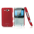 Nillkin scrub hard skin cases covers for HTC Chacha A810e G16 - Red