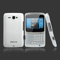 Nillkin scrub hard skin cases covers for HTC Chacha A810e G16 - White